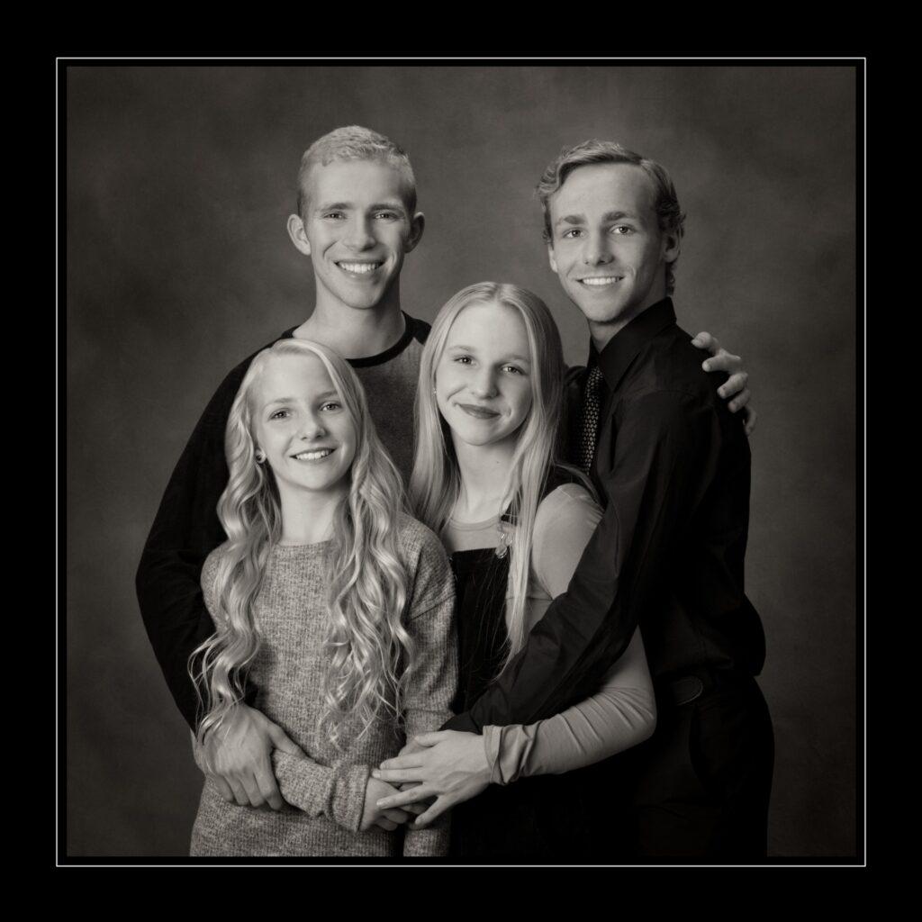 Fine Black & White family portrait