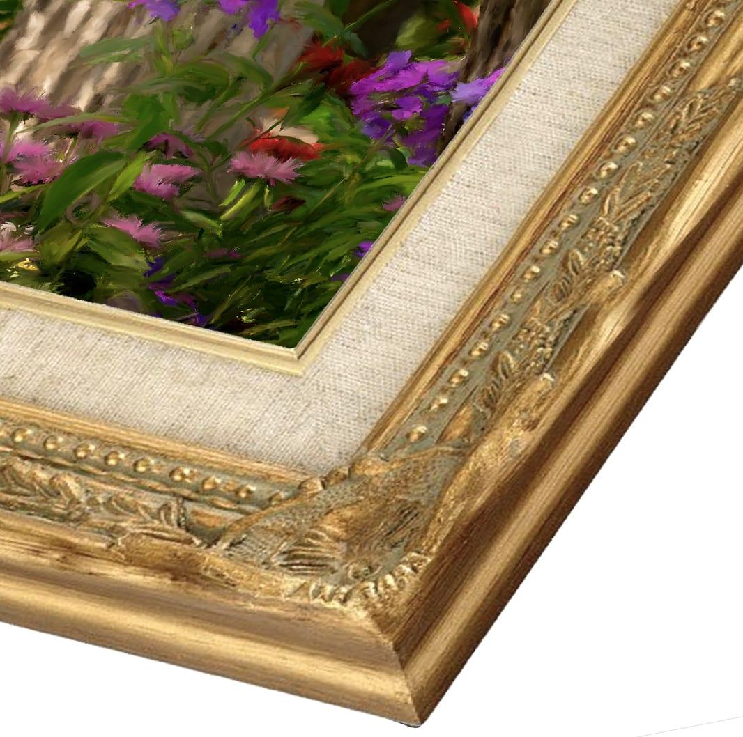 Painted portrait frame